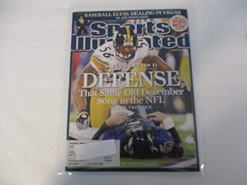 DECEMBER 22, 2008 SPORTS ILLUSTRATED FEATURING LAMARR WOODLEY OF THE PITTSBURGH STEELERS *STEEL CURTAIN II - DEFENSE - THE SAME OLD DECEMBER SONG IN THE NFL -BY JIM TROTTER*