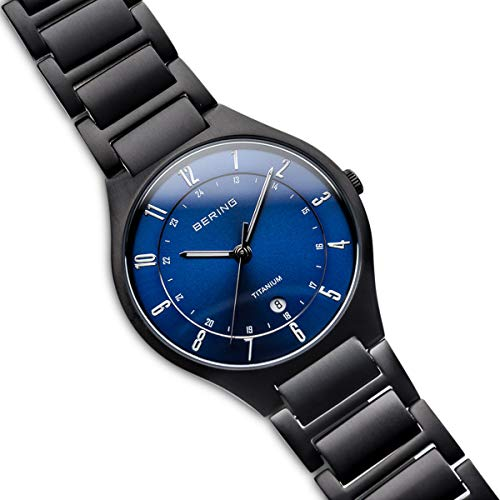 BERING Time 11739-727 Mens Titanium Collection Watch with Titanium Band and Scratch Resistant Sapphire Crystal. Designed in Denmark.