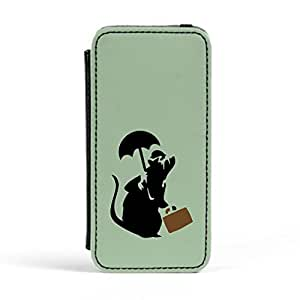 Banksy Executive Rat Premium Faux PU Leather Case, Protective Hard Cover Flip Case for Apple? iPhone 5 / 5s by Chargrilled + FREE Crystal Clear Screen Protector