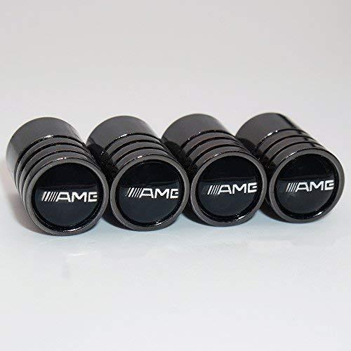 DOREMI 4 x Bouchons de valves amg Noir Tuning Logo embleme