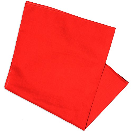 Basico 100% Cotton Head Wrap Bandana 12 PackVarious Colors (Red) ()