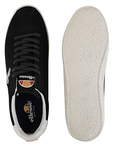 buy cheap low price fee shipping sale new styles ellesse Mens Avellino Vulc Suede Leather Low Trainer Sneakers Black buy cheap good selling excellent cheap online rjMV74g