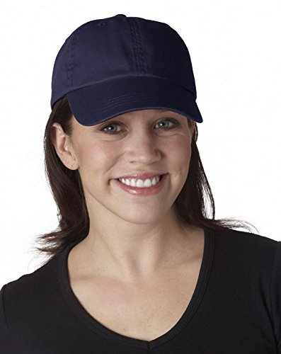 UltraClub 8102 Solid Cotton Cap Navy One Size ()