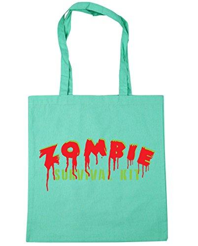 HippoWarehouse Zombie Kit de supervivencia bolsa de la compra bolsa de playa 42cm x38cm, 10litros verde menta
