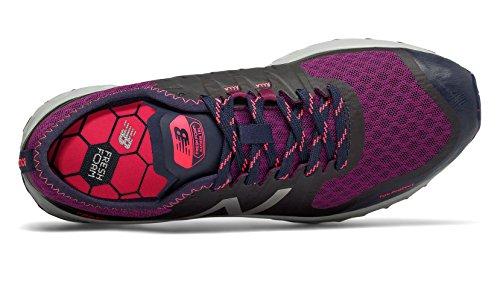 New Balance Women's Kaymin Trail v1 Fresh Foam Trail Running Shoe Claret/Pigment/Pink Zing