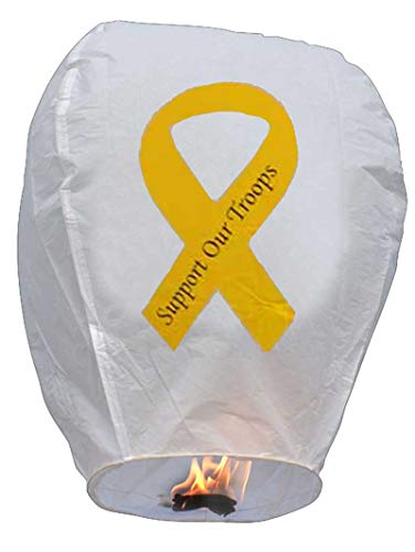 Yellow Ribbon Chinese Sky Lantern - Eco-Friendly Biodegradable- by TNT Sales in -
