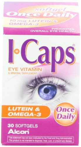 Icaps Lutein and Omega-3 Eye Vitamin and Mineral Supplement, 30 softgels (Pack of 4)