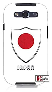 Premium Japan Japanese National Flag Badge Direct UV Printed (not sticker) Unique Quality Soft Rubber TPU Case for Samsung Galaxy S4 I9500 - White Case