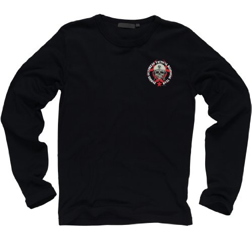Zombie Outbreak Containment with Skull Long Sleeve T-shirt (M)