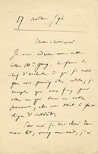 Camille Saint-Saens COMPOSER autograph letter signed