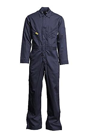 Lapco FR GOCD6GY-36 REG 88//12 Cotton-Nylon Deluxe Lightweight Coverall,Cotton 36 Regular Gray