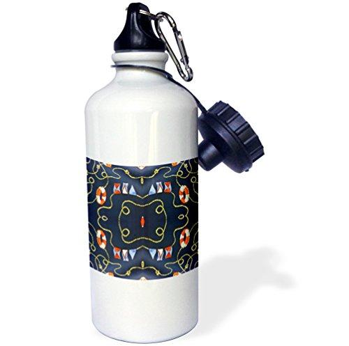 Florene Decorative - Nautical Lifesavers - 21 oz Sports Water Bottle (wb_23987_1)