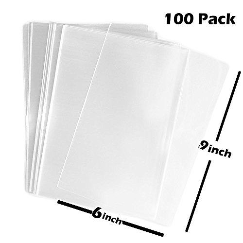TripodGo 100x Clear Flat Cello/Cellophane Treat Bag 6x10 inch(1.2mil) Gift Basket Supplies
