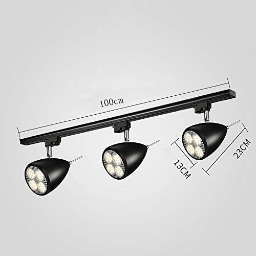 ZJⓇ Spotlight Track Light - Nordic Aisle Lights - Two Colors (Black/White) && (Size : Black - 13-3 Heads in Diameter) by ZJⓇ Spotlight (Image #3)