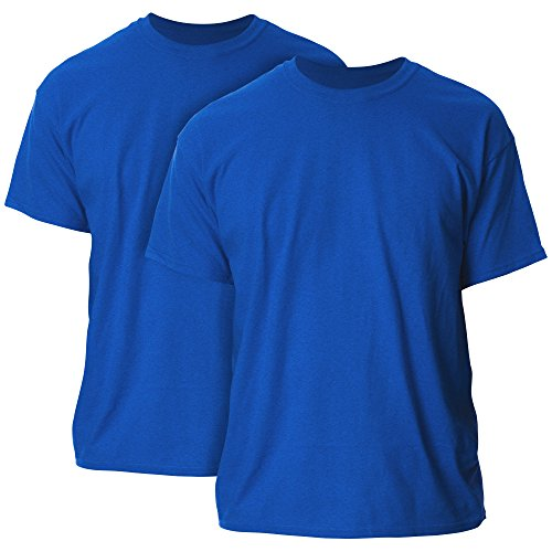 Gildan Men's Ultra Cotton Adult T-Shirt, 2-Pack, Antique Royal Large