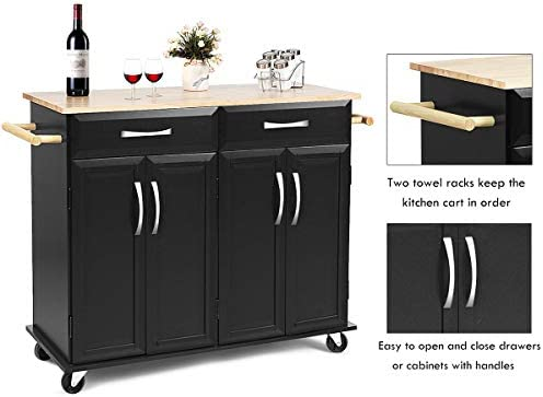 home, kitchen, furniture, kitchen, dining room furniture,  kitchen islands, carts 10 discount Giantex Kitchen Island Cart, Rolling Trolley Cart Utility deals