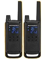 Motorola T82 Extreme PMR446 2-Way Walkie Talkie Radio Twin Pack - Jaune/Noir