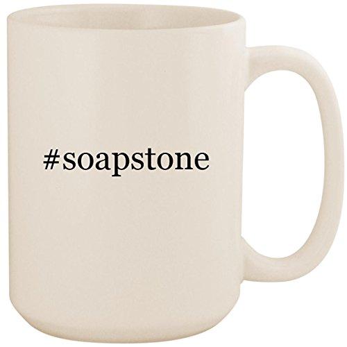 #soapstone - White Hashtag 15oz Ceramic Coffee Mug Cup