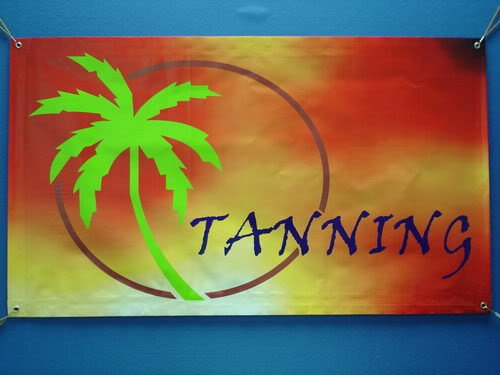 nning Sun Care Banner Shop Signs NEW ()
