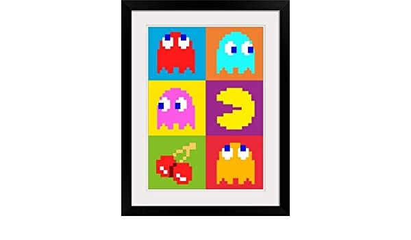 "Poster Print /""PacMan Squares/"""