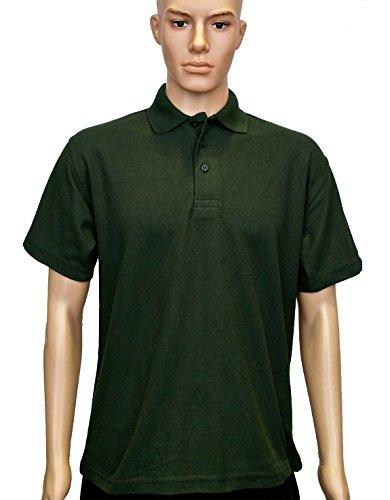 Con Polo nbsp; Uneek Verde Piqué Maniche shirt cotone E Tessuto In Orlo Poliestere Classica Colletto Maglia Unisex T Uc101 Bottiglia Xg5x57q