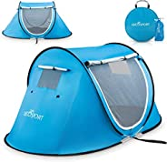 Pop-up Tent an Automatic Instant Portable Cabana Beach Tent - Suitable for Upto 2 People - Doors on Both Sides