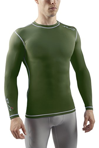 Sub Sports Mens Long Sleeve Compression Top Base Layer Crew Neck Vest