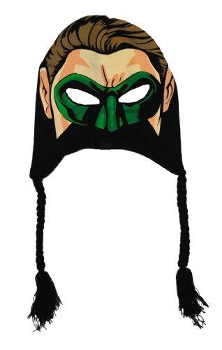 Green Lantern Mask Peruvian Laplander Hat - Green Lantern Cap