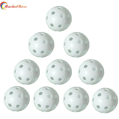stic Whiffle Airflow Hollow Golf Balls 26 Holes for Sports Indoor Golf Practice Training (White) ()