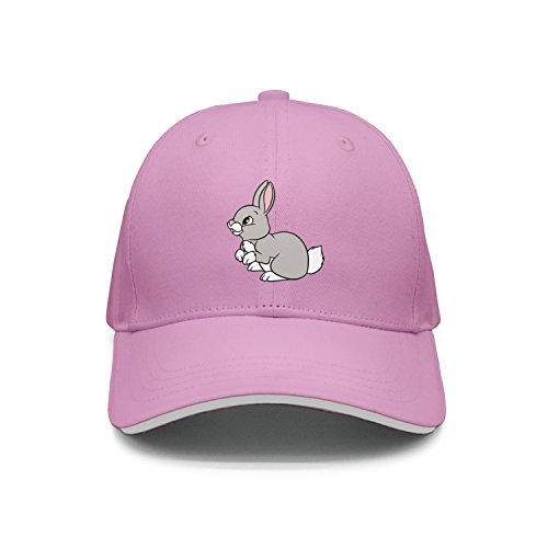 Hey-ifx Twill Sandwich Cap Cartoon Bunny Clip Art Snapback Hats Adjustable for Men & Women -