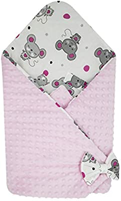 Baby Infant Soft dimple dot Blanket Receiving Blanket Wraps Sleeping Cover