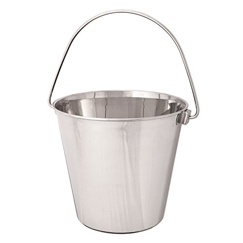 ProSelect Heavy Duty Stainless Steel Pails — Durable Pails for Kennels and Farms - 6