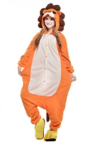 Newcosplay Halloween Neutral Adult Cartoon Costume Animal Cosplay Costume Listing 1 (M, Orange Lion)