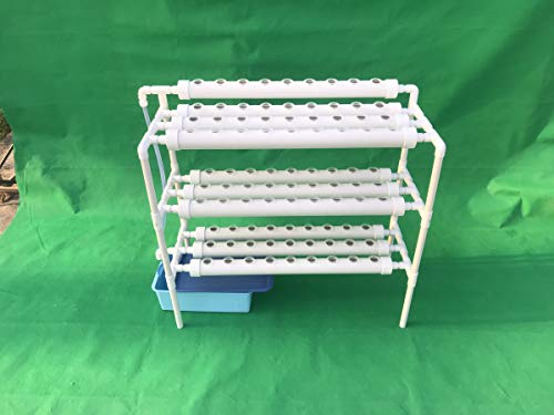 LAPOND Hydroponic Grow Kit,3 Layers 90 Plant Sites PVC Pipe Hydroponics 10 Pipes Hydroponics Growing System Water Culture Garden Plant System for Leafy Vegetables by LAPOND (Image #3)