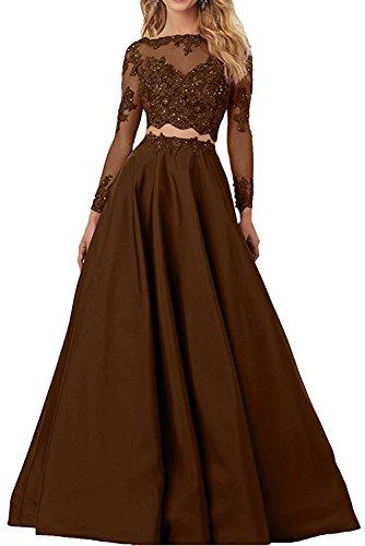para marrón Vestido trapecio Topkleider mujer qwYzTEax