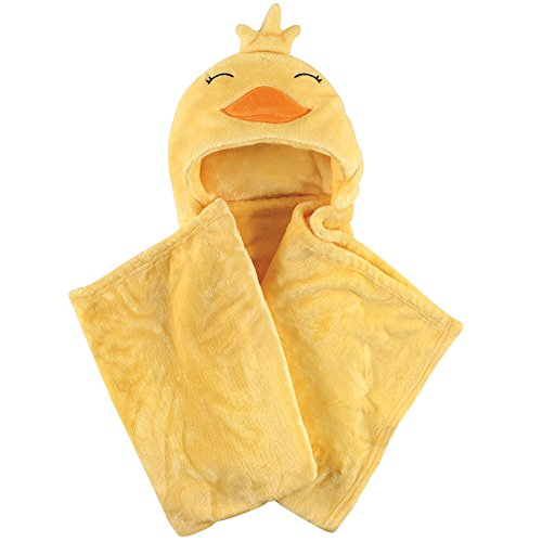 Hudson Baby Unisex Baby and Toddler Hooded Plush Blanket, Duck, One - Unisex Duck