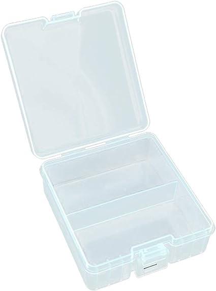 H HILABEE 100 X Caja De Almacenamiento De Soporte De Caja De Plástico Duro para Baterías AAA Recargables: Amazon.es: Electrónica