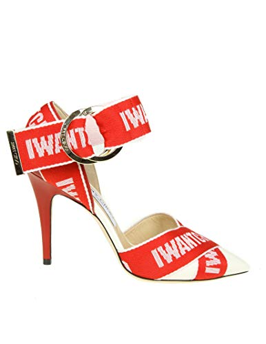 Pelle Scarpe Tacco Rosso Jimmy Bea100gpq Donna Choo Con Yttq58