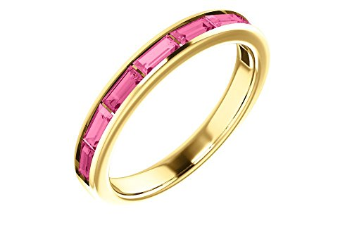 - Jewels By Lux 14K Yellow Gold Pink Tourmaline Ring