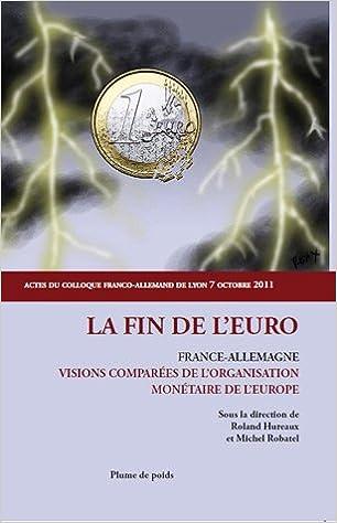 Read La fin de l'Euro : France-Allemagne ; visions comparées de l'organisation monétaire de l'Europe epub pdf
