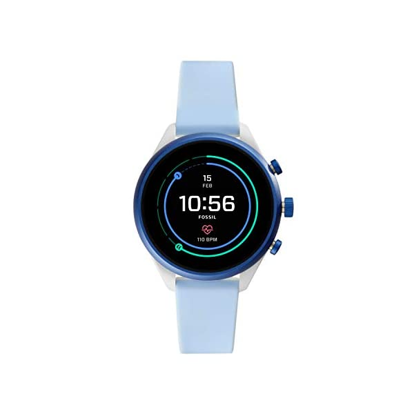 Fossil Women's Sport Metal and Silicone Touchscreen Smartwatch with Heart Rate,...