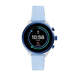 Fossil Women's Digital Wrist Watch smart Display and Silicone Strap, FTW6026