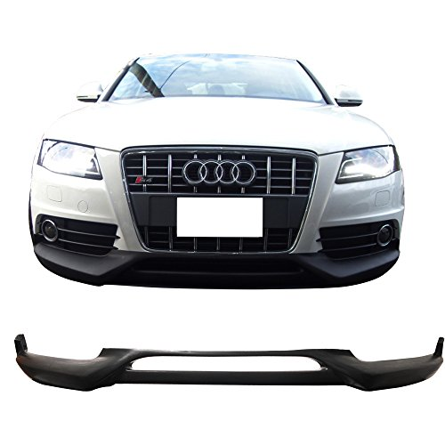 Front Bumper Lip Fits 2009-2012 Audi A4 | RG Style Unpainted PU Front Lip Finisher Under Chin Spoiler Add On by IKON MOTORSPORTS | 2010 2011