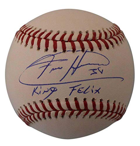 King Autographed Baseball - Felix Hernandez Signed Baseball - OML King 24155 - JSA Certified - Autographed Baseballs
