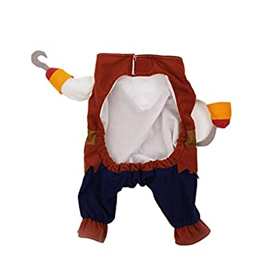 Topsung Cool Caribbean Pirate Pet Costume for Dogs / Cats