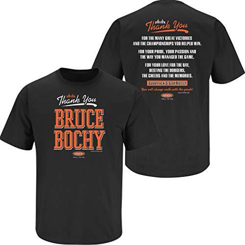 - San Francisco Baseball Fans. Thank You Bruce Black T-Shirt (Sm-5X) (Short Sleeve, 2XL)