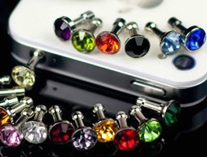 Eshop 10pc Bow Bing Crystal Earphone Jack Accessory Cellphone Charms Anti-dust Dustproof Earphone Audio Headphone Jack Plug Stopper for Iphone 4 4s Samsung Galaxy S2 S3 Note I9220 HTC All 3.5mm Ear Jack-color Random Rend (Cellphone Earphone Jack Accessory compare prices)
