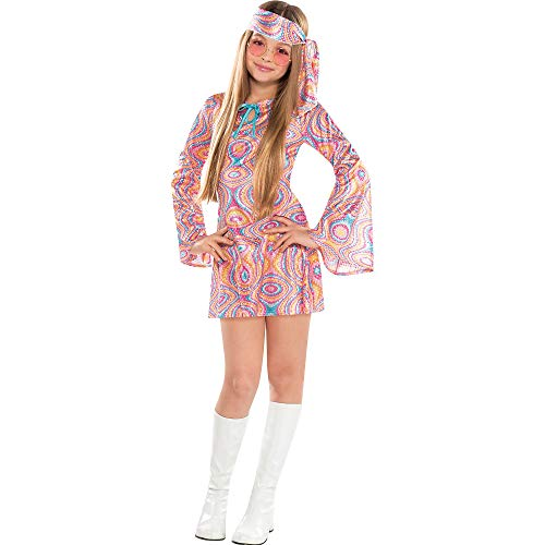 Suit Yourself Disco Diva Halloween Costume for Girls, Large, Includes Headscarf -