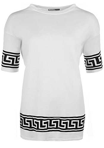 Fashion Essentials-frauen Aztekenmuster Short Sleeve Baggy