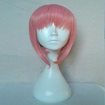 GSP-rosa peluca cosplay sintética del pelo corto pelucas del partido pelucas de dibujos animados